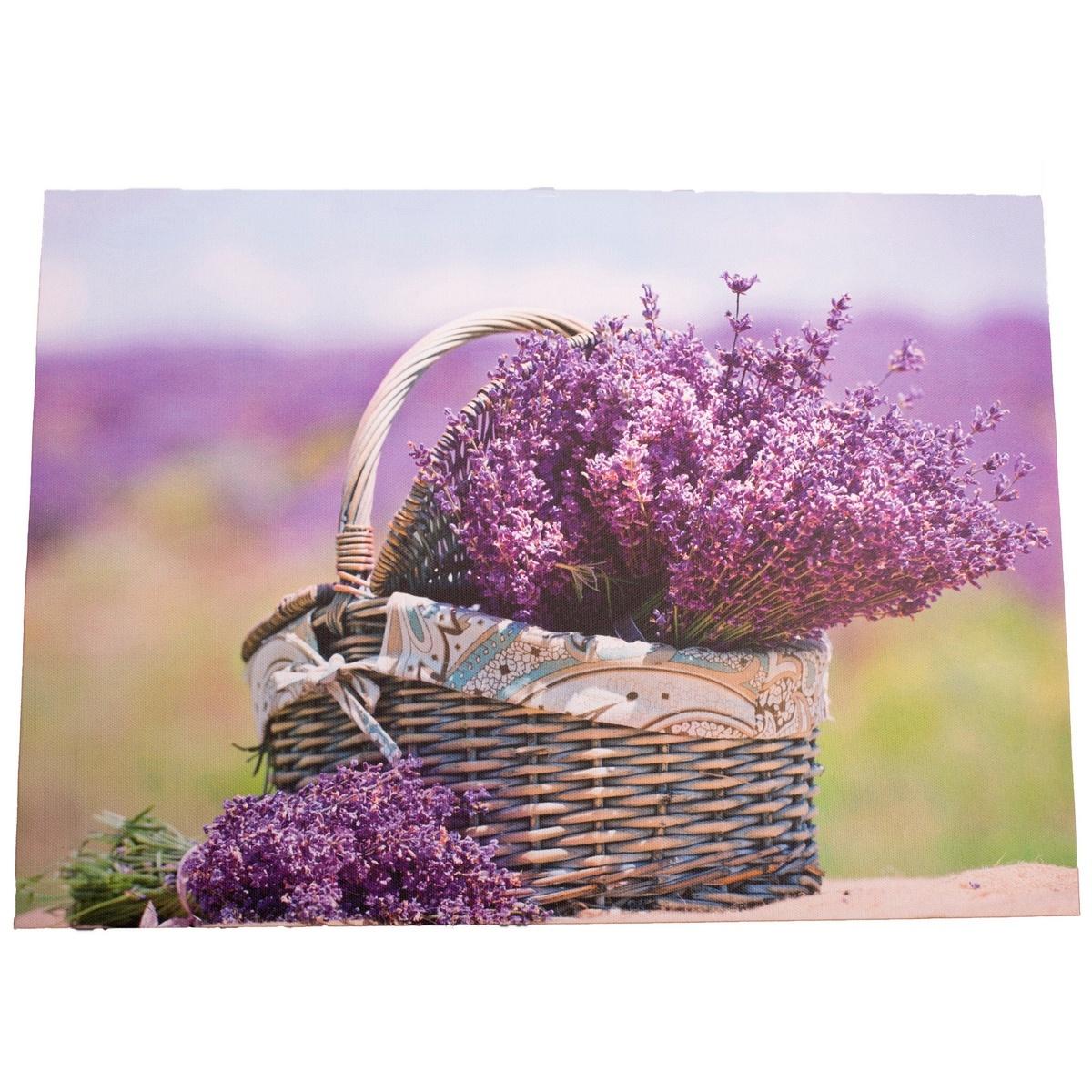 Obraz na plátně s levandulí Provence, 30 x 40 cm