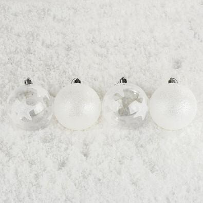Vánoční koule s hvězdami Bglitter 6 ks