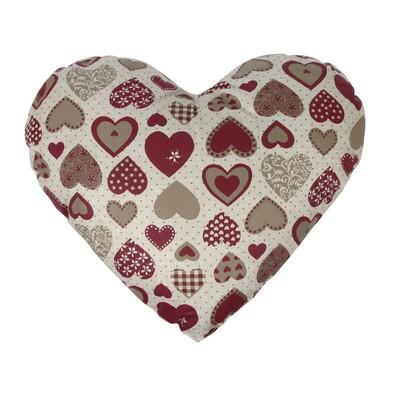 Polštářek Srdce na režné, 30 x 45 cm