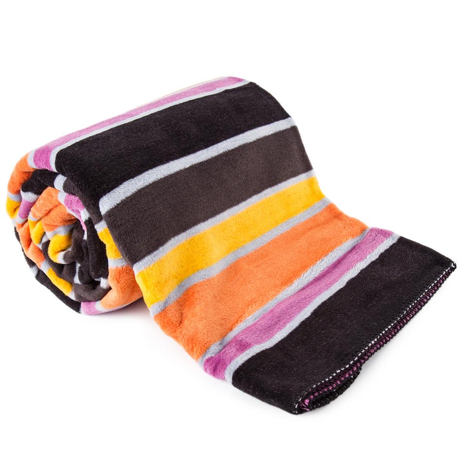 BedTex Bavlněná deka Belts oranžová 150x200