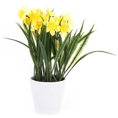 Umělá květina narcis žlutá