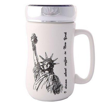Altom Porcelánový hrnček s viečkom New York 400 ml