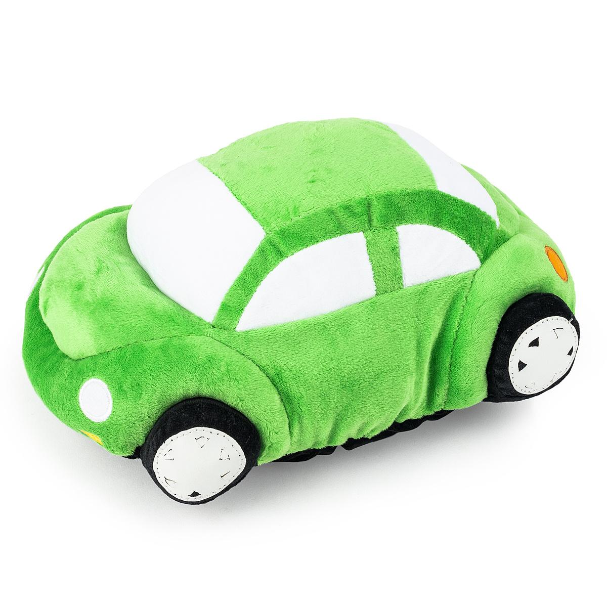 Pernă cu formă aparte Mașinuță, verde, 33 x 15 cm imagine 2021 e4home.ro