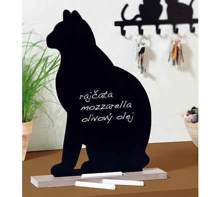 Poznámková tabule kočka, černá