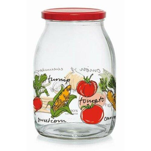 Zavařovací sklenice s víčkem ZELENINA 1 l, 6 ks
