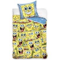 Detské bavlnené obliečky Sponge Bob Kam sa pozrieš, 140 x 200 cm, 70 x 90 cm