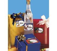 Polepky na dárky, vícebarevná