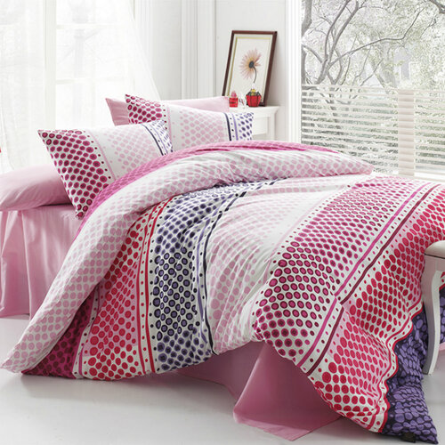 Tip Trade Bavlněné povlečení Fashion Pink, 220 x 200 cm, 2 ks 70 x 90 cm