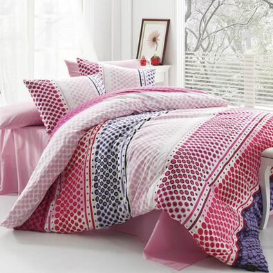 Bavlněné povlečení Fashion Pink, 220 x 200 cm, 2 ks 70 x 90 cm