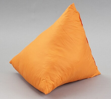 Kónický polštář micro tm. oranžový, 45 x 45 cm, oranžová, 45 x 45 cm