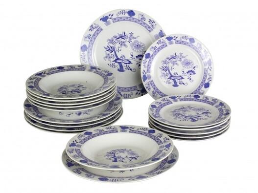 18-dílná jídelní sada porcelánová