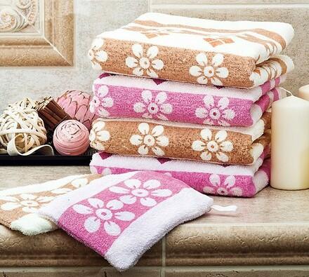 Sada 4 ks ručníků + 2 žínky