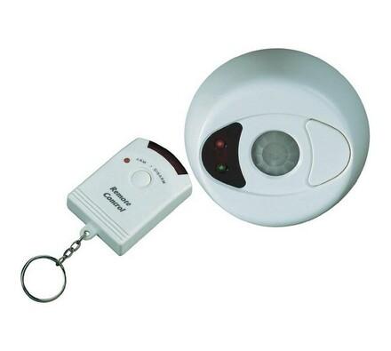 Stropný alarm s diaľkovým ovládaním, biela, 50 x 46 x 127 mm