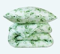 Sada přikrývky a polštáře, zelená
