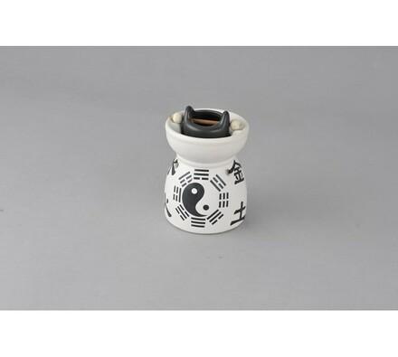 Keramická aromalampa, Jingjang, bílá + černá