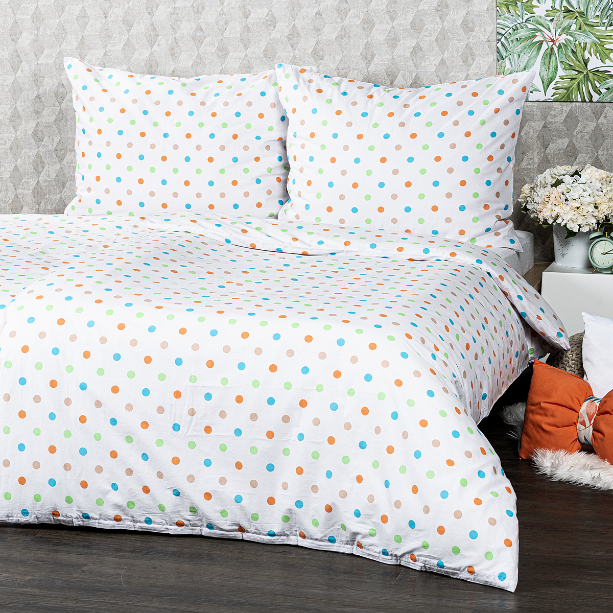 4Home Bavlnené obliečky Dots oranžová