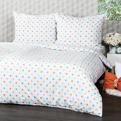 4Home Pościel bawełniana Dots pomarańczowego, 140 x 200 cm, 70 x 90 cm
