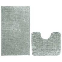 AmeliaHome Sada koupelnových předložek Bati šedá, 2 ks 50 x 80 cm, 40 x 50 cm