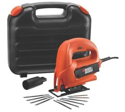 Priamočará pila 520 W, v kufri, Black and Decker K, oranžová