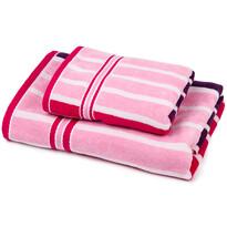 Stripes Sweet törölköző és kéztörlő szett, 70 x 140 cm, 50 x 90 cm