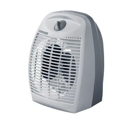 Teplovzdušný ventilátor, VT-6910 Conclima, Concept, bílá + šedá, 21,5 x 26,5 x 17 cm