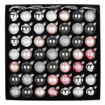 Sada vánočních ozdob Ornate růžová, box 49 ks