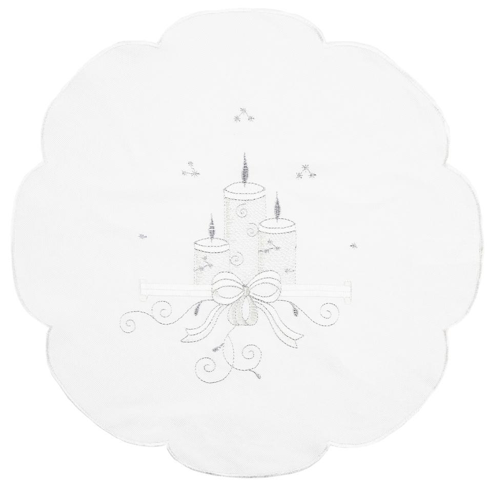Forbyt Vánoční ubrus Svíčky, pr. 35 cm
