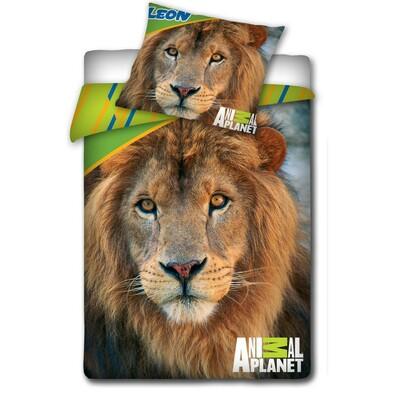 Bavlněné povlečení Animal Planet - Lev, 140 x 200 cm, 70 x 80 cm