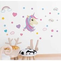 Unicorn öntapadó dekoráció, 122 x 70 cm