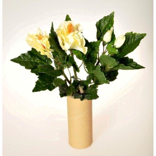 Umělá květina Ibišek svazek bílá, 35 cm