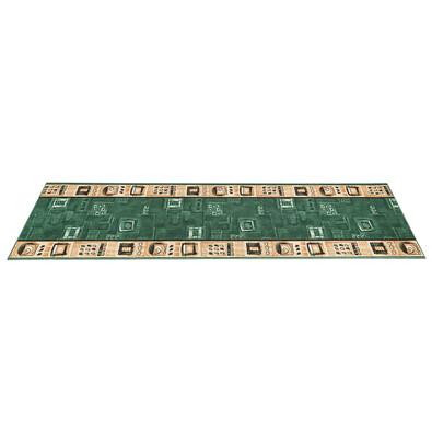 Kobercový běhoun Zara zelená, 80 x 100 cm