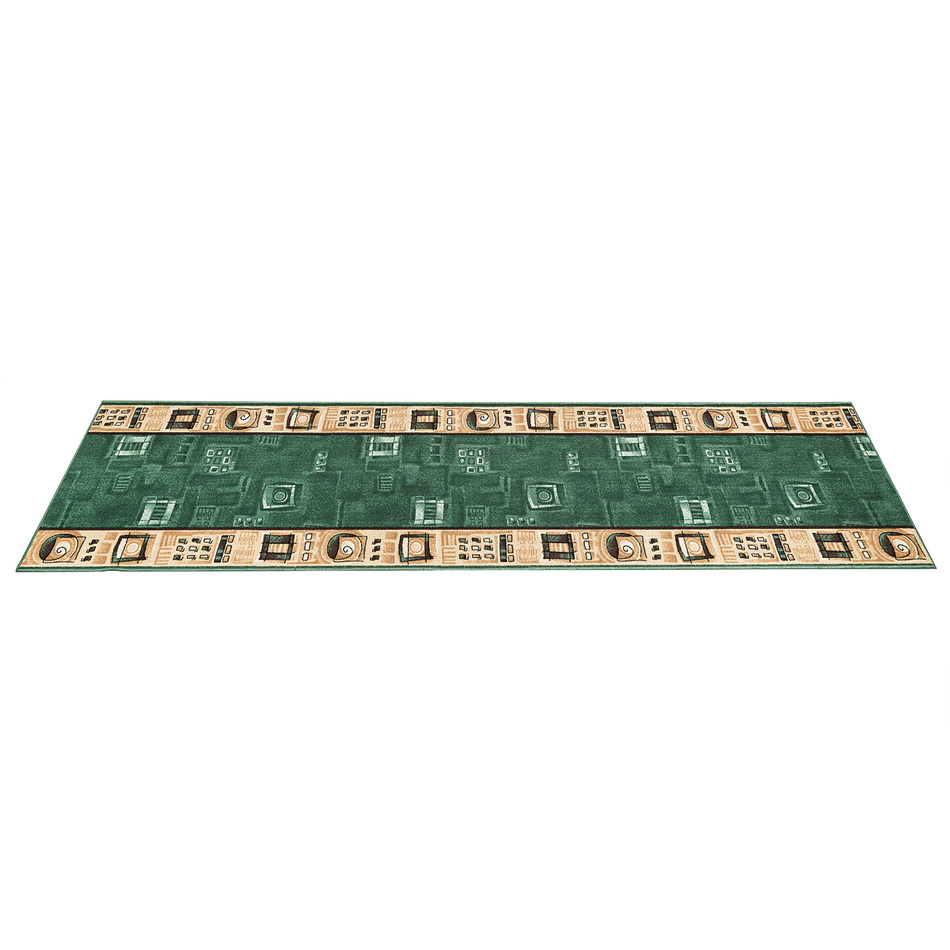 Kobercový behúň Zara, zelený, 70 x 200 cm