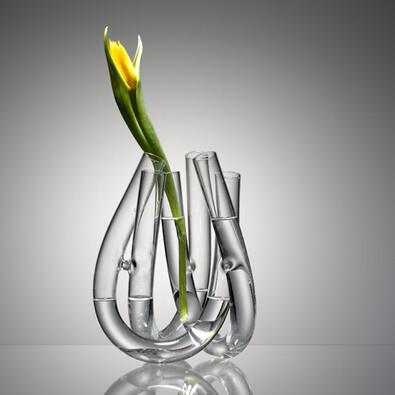 Váza TriU 22 cm, čirá
