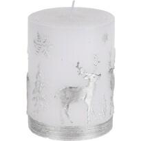 Vánoční svíčka Stříbrný sob, 9 cm