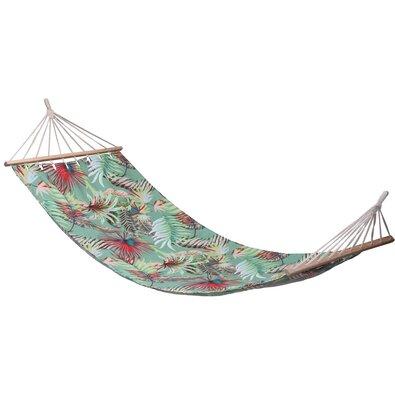 Leżak do zawieszenia Tropical leaves zielony, 200 x 80 cm