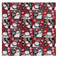 Hóemberek karácsonyi abrosz, 100 x 100 cm