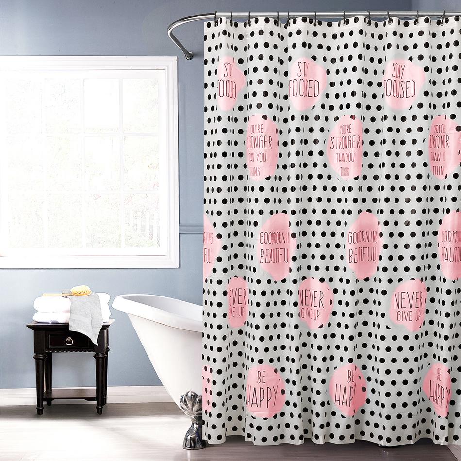 Koopman Sprchový závěs Jesika růžová, 180 x 180 cm