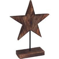 Dřevěná dekorace Wooden Star, 26 cm