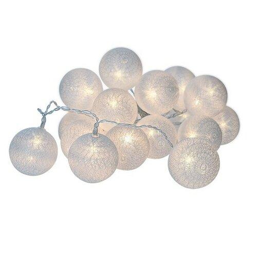 Solight Vánoční koule bavlněné 20 LED teplá bílá