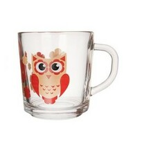 Orion Set 3 pahare de sticlă Bufniță, 290 ml