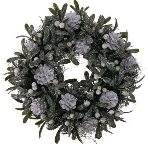 Vánoční dekorační věnec Helene pr. 24 cm, bílé bobule
