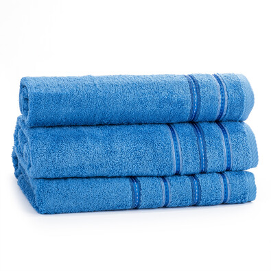 Dárkový set ručníků Nicola modrá, sada 3 ks