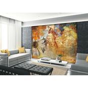 Fototapeta XXL Květinová malba 360 x 270 cm , 4 díly