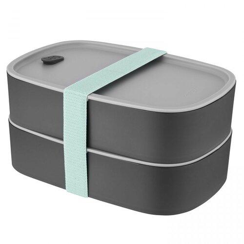 BergHOFF Box na desiatu dvojitý LEO, sivá