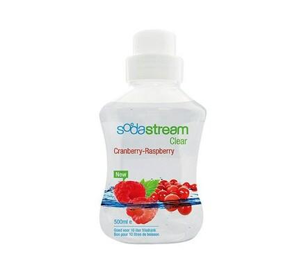 Sodastream Sirup Clear Brusinka s malinou 500ml, bílá