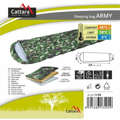 Cattara Spací vak dekový Army, 5 °C