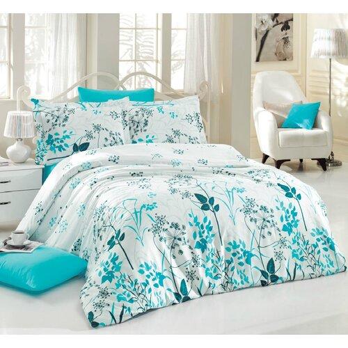 Ariatex Saténové obliečky Blue Garden, 140 x 220 cm, 70 x 90 cm