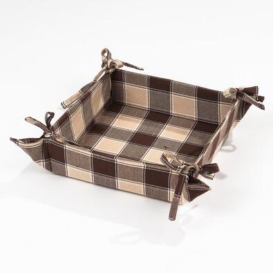Košík na pečivo hnědá , 40 x 40 cm