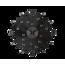 Ceas de perete Lavvu Crystal Sun LCT1071 negru, dm. 49 cm