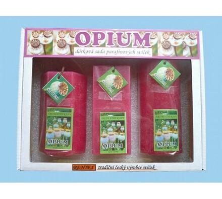 Dárková sada parafínových svíček opium